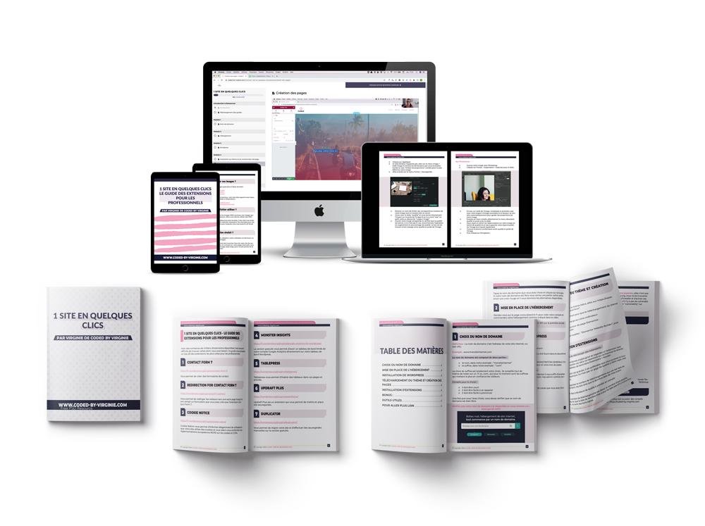 1 site en quelques clics digital et workbook bundle